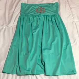 0fc5e4effe7cc Mint green strapless bathing suit cover up